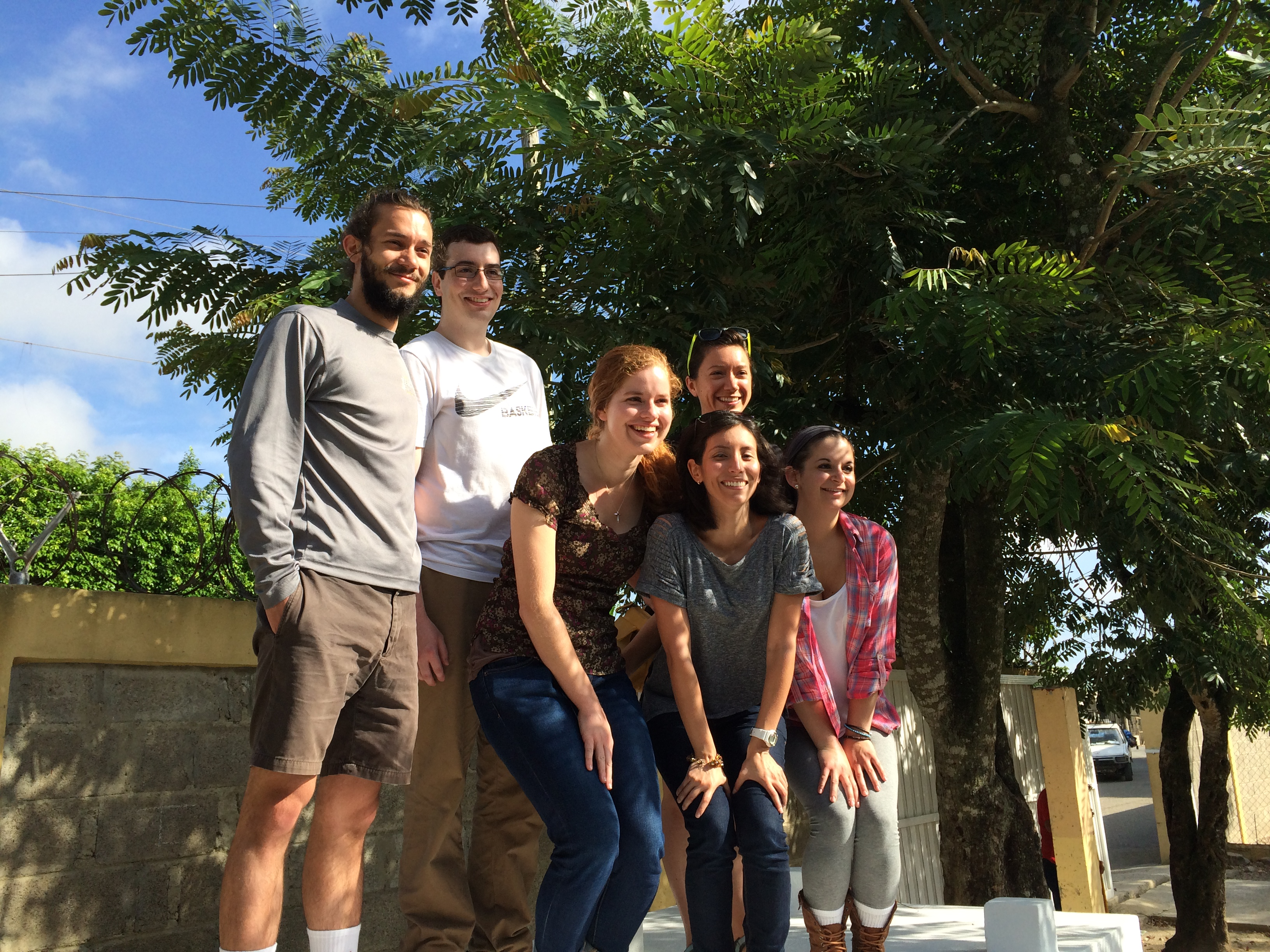 Students pose in the Dominican Republic