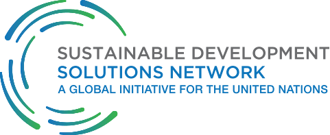 Sustainable Development Solutions Network logo blue green on white background