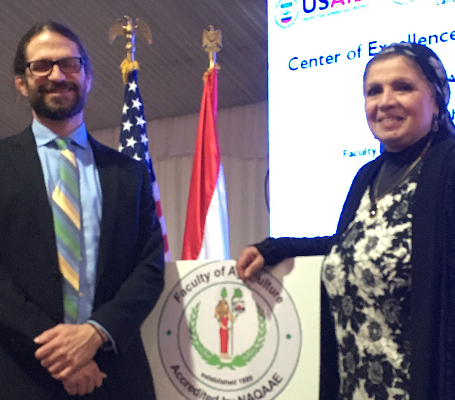 Paul Ebner with Cairo Official