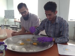 Paul Ebner with Herat University student