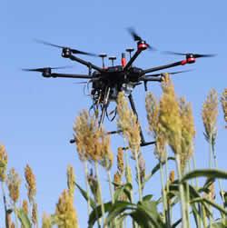 UAV flying