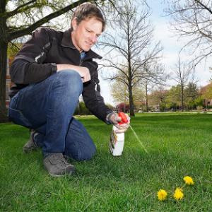 Cale Bigelow Spraying Weeds