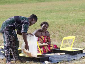 Solar Tray in use