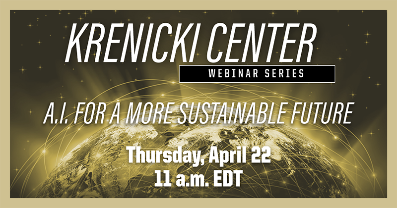 Krenicki Center Webinar Series - April 22, 2021, 11 a.m. EDT