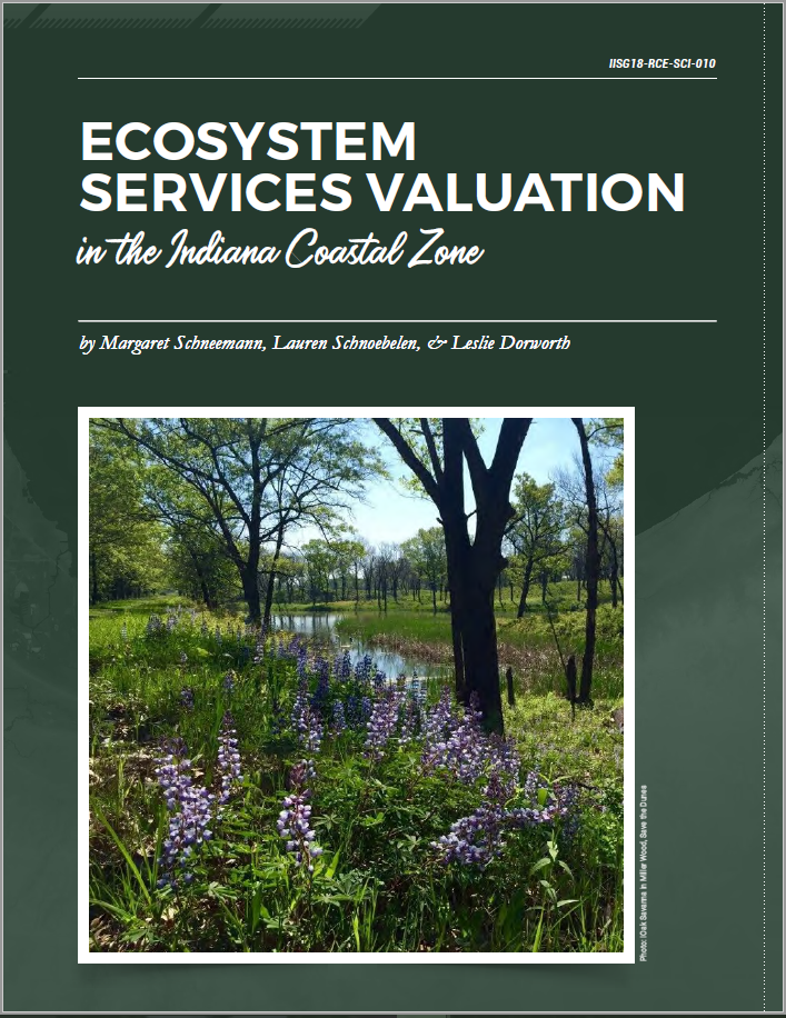 Valuing Ecosystem Services in the Indiana Coastal Zone publication cover
